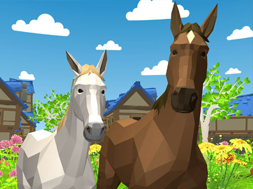 Horse Family Animal Simulator 3D